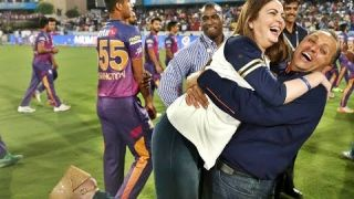 IPL 2017 Final Mumbai Indians Owner Nita Ambani Celebration Moment